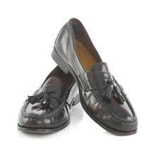 Cole Haan Oxblood Leather Tassel Loafers Dress Shoes Mens 10.5 SN C06588 - $59.32