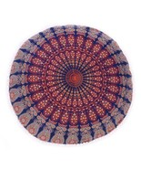 "32"" Pouf Cover Round Mandala India Handmade Bohemian Cushion Pouf Cover ... - $21.98"