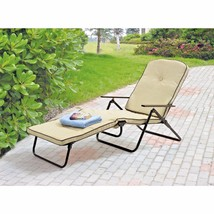 Padded Folding Outdoor Tan Safety Lock Pool Cha... - $90.68