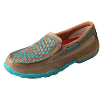 Women's Twisted X Turquoise Basket Weave Driving Mocs Slip On D Toe - WD... - $97.95