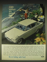 1962 Ford Consul Classic Ad - Ford holidays are more so than others - $14.99