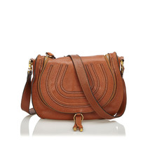 Pre-Loved Chloe Brown Light Others Leather Marcie Crossbody Bag France - $635.86