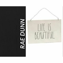 NWT Rae Dunn LIFE IS BEAUTIFUL Wall Plaque - $37.62