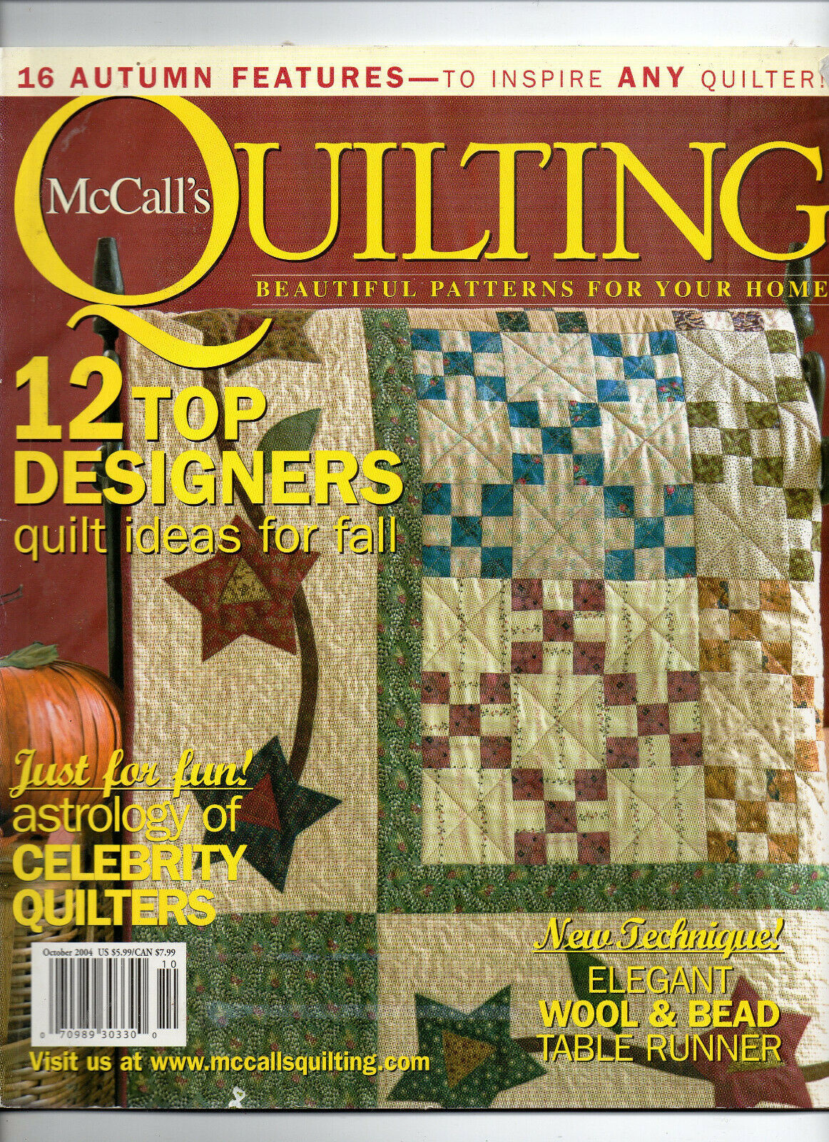 Primary image for Oct 2004/McCall's Quilting/Preowned Craft Magazine