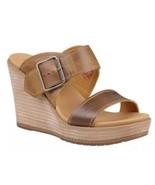 Women Timberland Brenton Buckle Slide Wedge Sandal Tan Brown A1GQB SIZE ... - $42.99