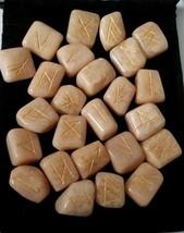 Rune Set  MoonStone 24 stones with Velvet Draw String Bag