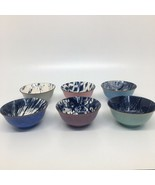 6 Certified International Multicolor Soup /Cereal/ Salad/ Ice Cream Bowls  - $46.74