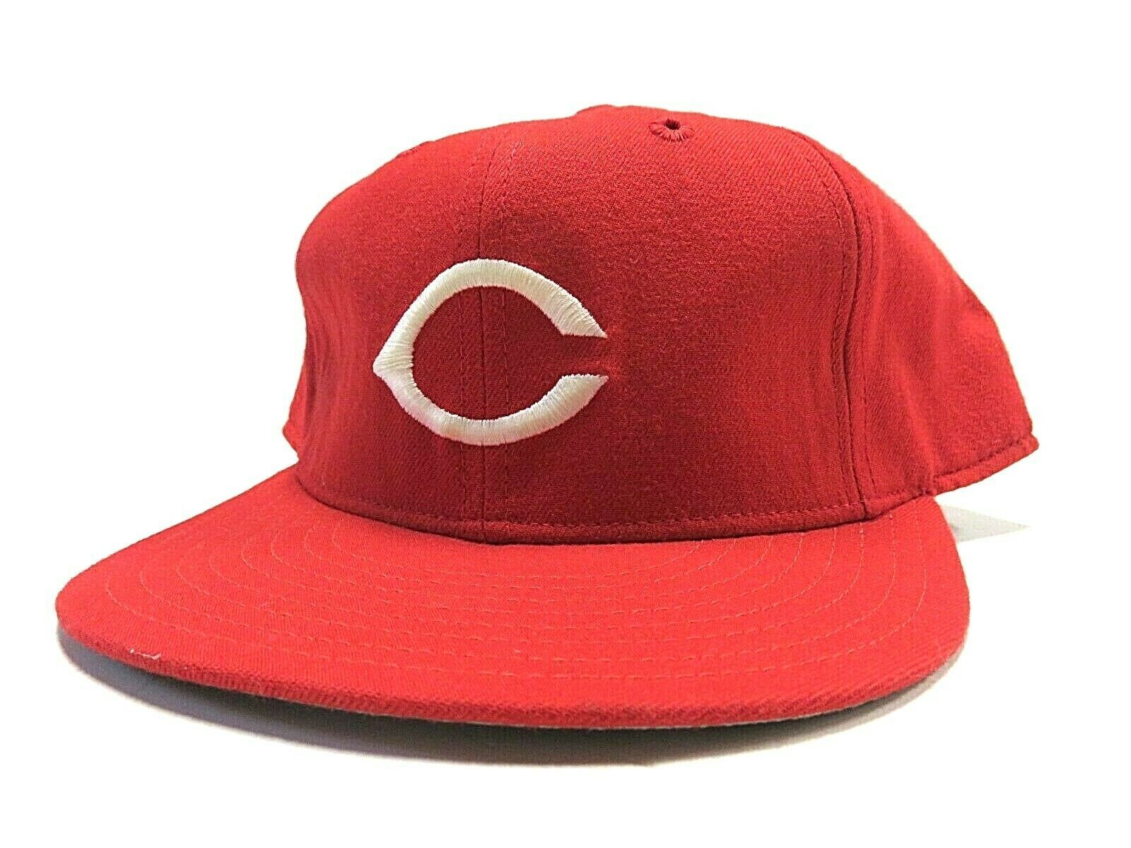 VTG New Era Cincinnati Reds MLB Baseball Fitted Hat Adult Size 7 3/4 Made in USA