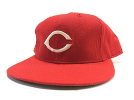 VTG New Era Cincinnati Reds MLB Baseball Fitted Hat Adult Size 7 3/4 Mad... - $47.48