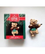 1991 Hallmark Fiddlin' Around Bear Playing Violin Ornament  - QX438-7 - $4.99