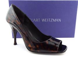 Stuart Weitzman Size 5 Linda Brown Tortuga Open Toe Heels Pumps Shoes - $68.00
