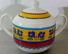 Vista Alegre Portugal Blue Flowers 1996 Sugar Bowl with Lid - $29.69