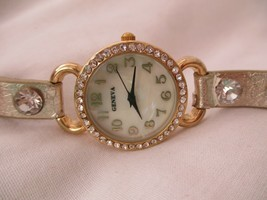 Geneva Gold & Silver Toned Wristwatch w/ Snap Closure - $29.00