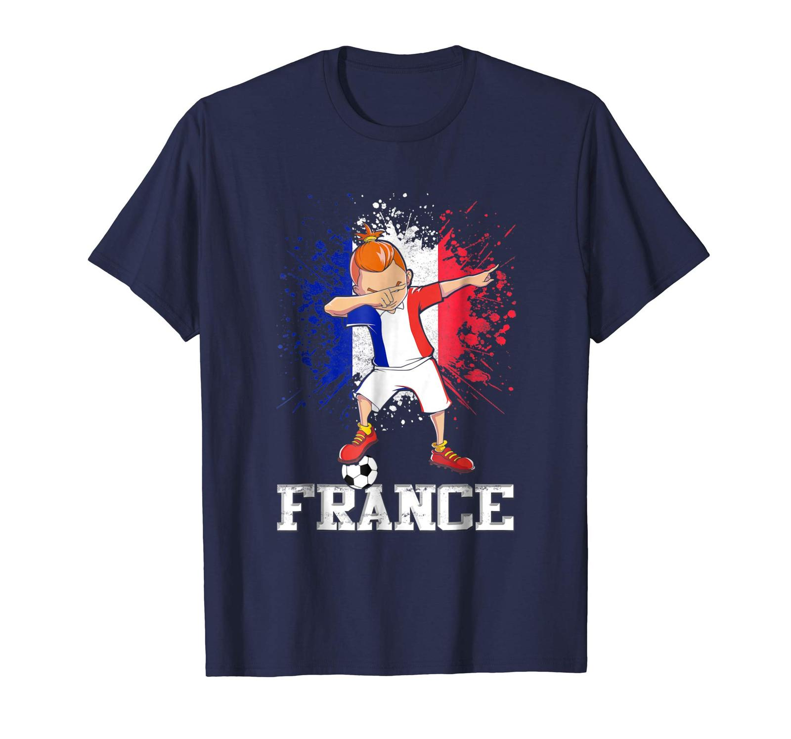 Primary image for New Shirts - Dabbing Soccer Boy France Jersey Shirt - French Football Men