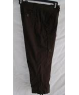 I N C Capri Pants Cotton Dark Brown Sz 4 32 Inch Waist - $11.70
