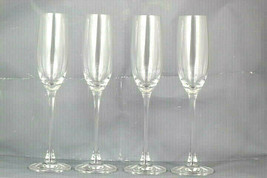 Lenox Set of 4 Tuscany Classics Fluted Champagne Lead Crystal 6.5 Oz - $29.69
