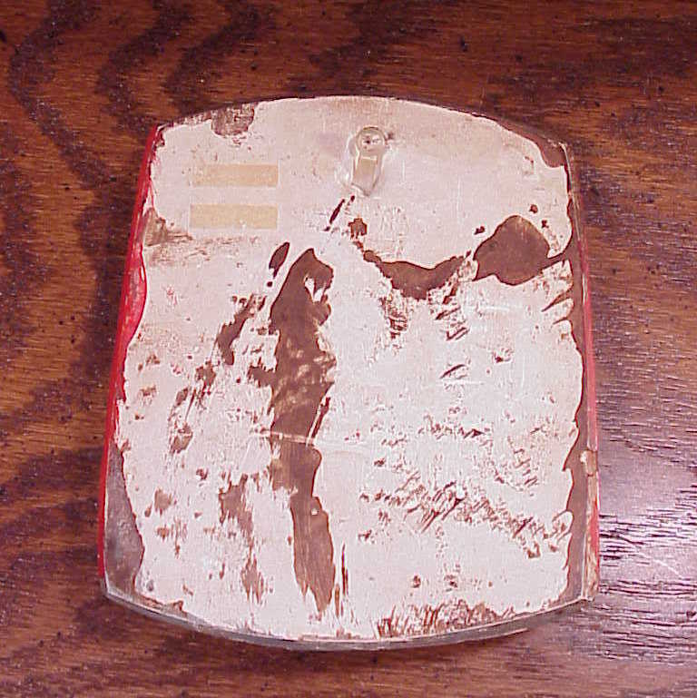 Chalkware Aunt's Tomato Sauce Hanging Wall Piece, Cheryl Gadow, 1975