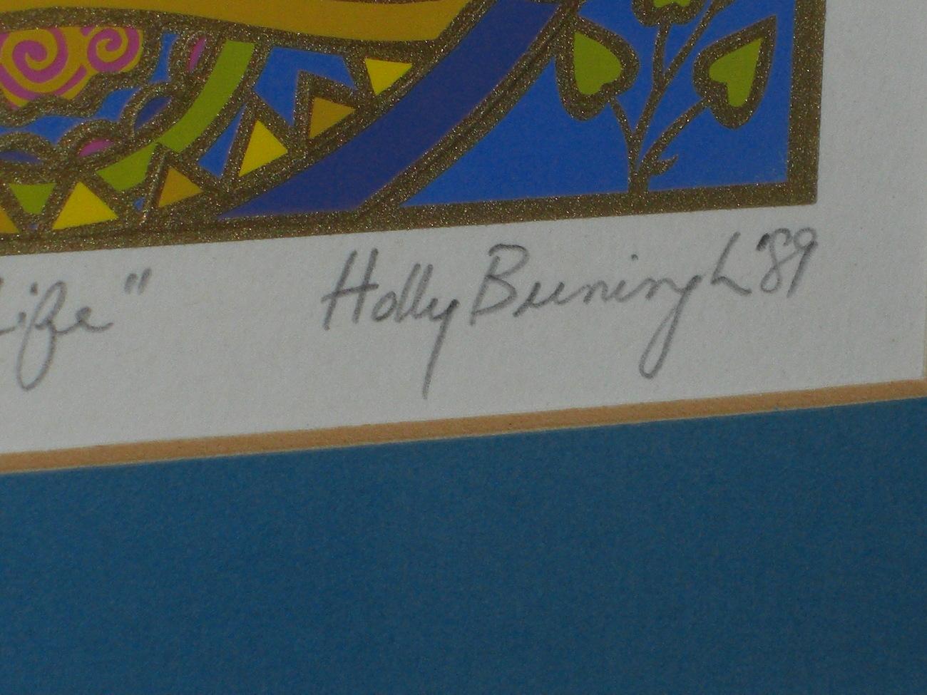 ARMADILLOS ENJOY LIFE Serigraph by Holly Buningh '89