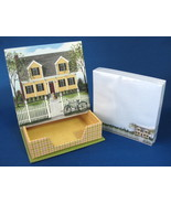 Boxed Memo Set House Picket Fence 150 sheets In Caddy New - $10.00