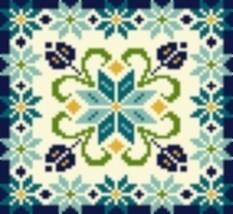 Latch Hook Rug Pattern Chart: STAR FLOWER pillow top- EMAIL2u - $5.50
