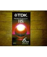 TDK Premium Quality HS 6hrs T-120 Blank VHS Videotape Brand New Factory... - $2.99