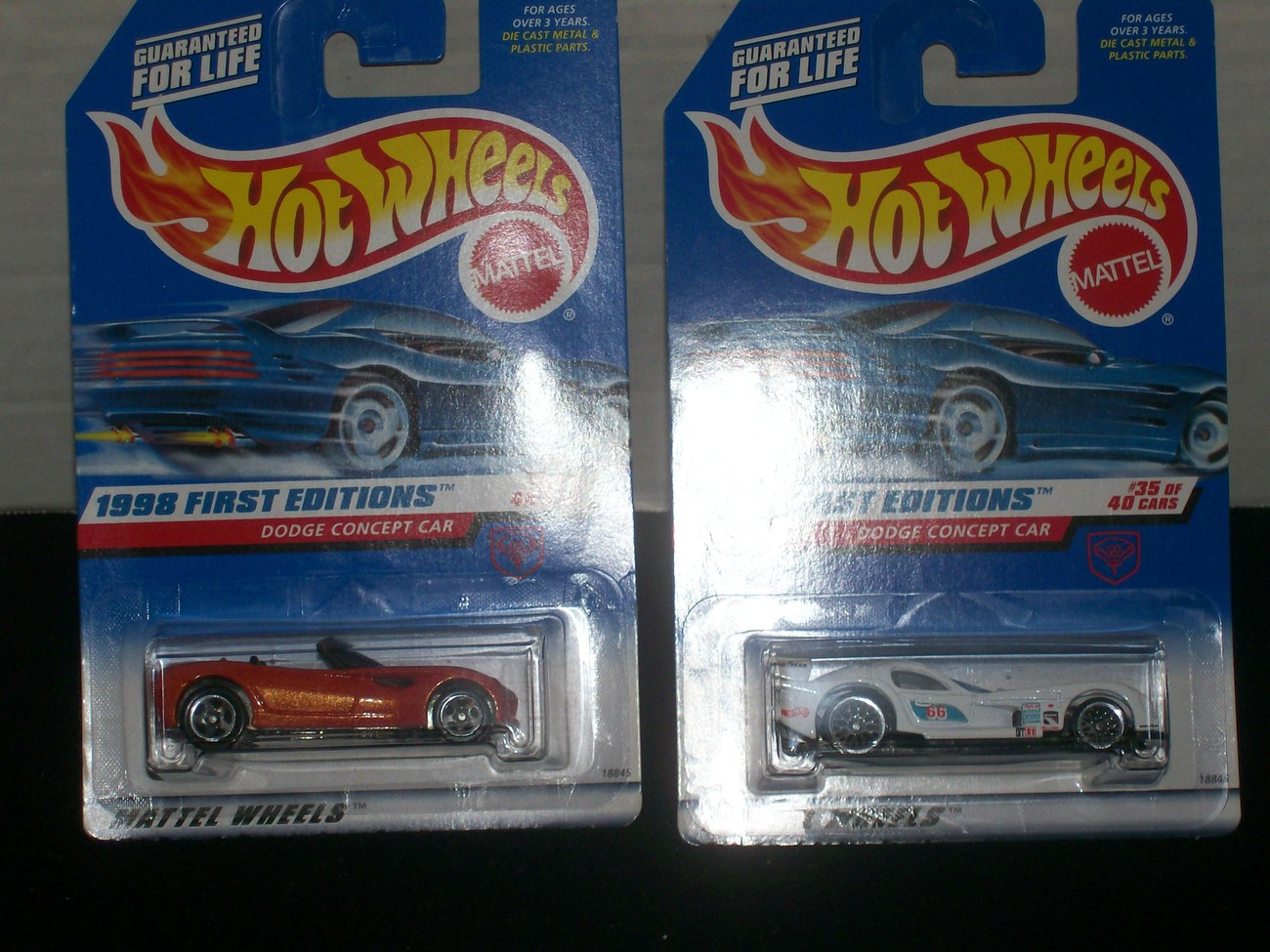 Hot Wheels 1998 First Edition Dodge Concept Car/s Error 35 Of 40