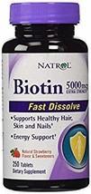 Natrol Biotin Extra Strength 5000 mcg- 2Pack 250 Tablets x 2 Total