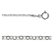 20 Inch Italian 925 Sterling Silver 1.5mm Diamond Cut Rolo Chain (CS114-20) - $7.60