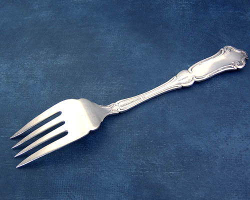 Antique 1835 Wallace Cardinal pattern cold meatfork pat. 1907