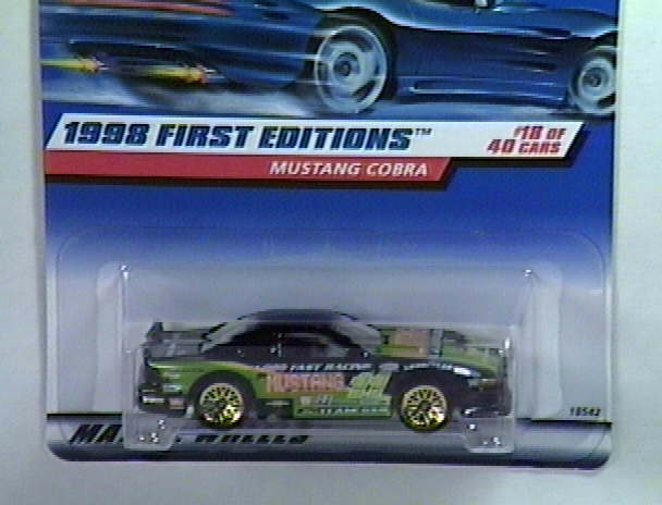 1998 First Edition Mustang Cobra Error Car/s # 18 Of 40