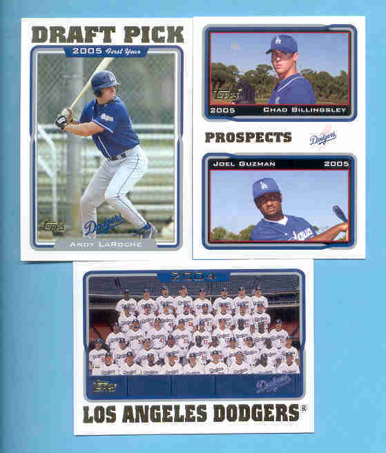 2005 Topps Los Angeles Dodgers Baseball Team Set