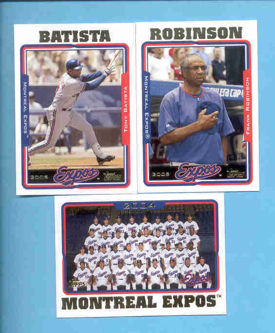 2005 Topps Montreal Expos Baseball Team Set