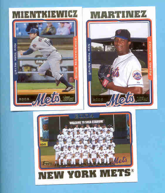 2005 Topps New York Mets Baseball Team Set