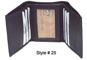 MENS TRIFOLD BILL FOLD NEW LEATHER WALLET HOLIDAY GIFT