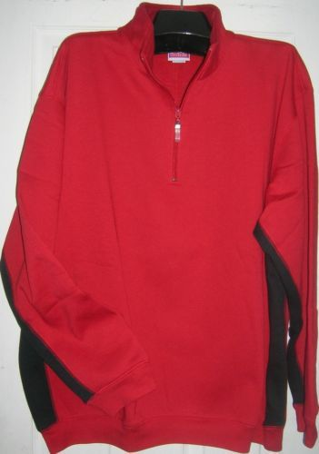 NEW MEN SWEATSHIRT FLEECE SIZE 2X 1/4 ZIP HOLIDAY GIFT