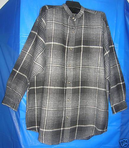 NEW MENS PLAID FLANNEL SHIRT SZ-MEDIUM 100% cotton