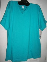 new men t shirt  2 buttons opening heavy weight sz-2XL - $12.46