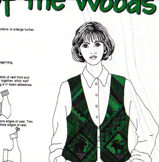 *Out of the Woods Fabric Vest to Sew - VIP DreamSpinners
