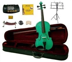 1/2 Size Green Violin,Case,Bow,Rosin,2 Bridges,Tuner,Shoulder Rest,Stand,Mute - $60.00