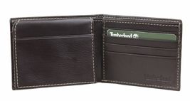 Timberland Men's Genuine Leather Passcase Credit Card Id Billfold Wallet image 11