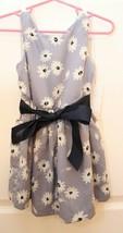 Ralph Lauren Girls 18 M Sleeveless Blue Daisy Floral Dress  NWT Sash Belt  - $29.67