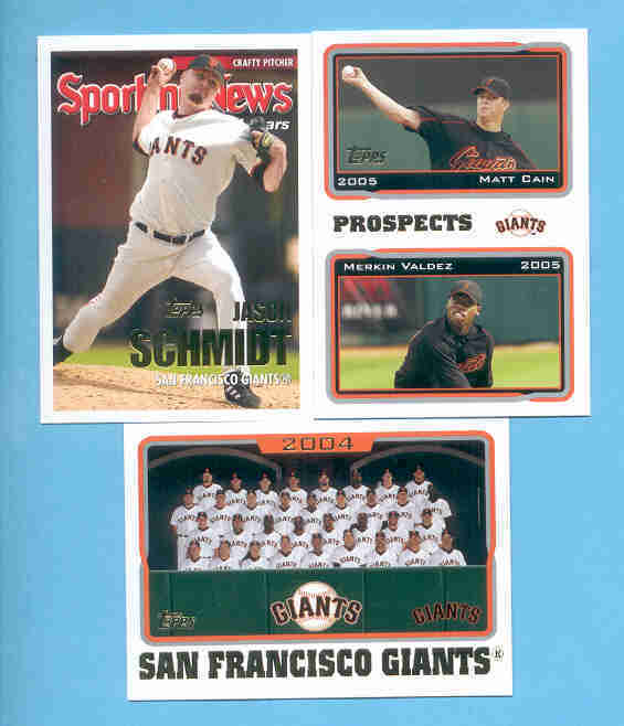 2005 Topps San Francisco Giants Baseball Team Set