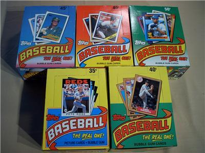 Primary image for 5 TOPPS BASEBALL WAX BOX LOT 1986 1987 1988 1989 1990 180 PK