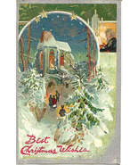 Best Christmas Wishes Tuck and Sons Vintage 1908 Post Card - $5.00