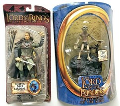Lord of the Rings The Two Towers Helm's Deep Legolas Gollum Toy Biz 2003... - $39.99