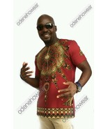 Odeneho Wear Men's Wine Dashiki/Angelina & Polished Cotton Top.African C... - $59.39+