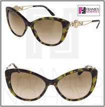 VERSACE Metal Cat Eye VE4295 Green Tortoise Gold Metal Medusa Sunglasses 4290 - $177.31