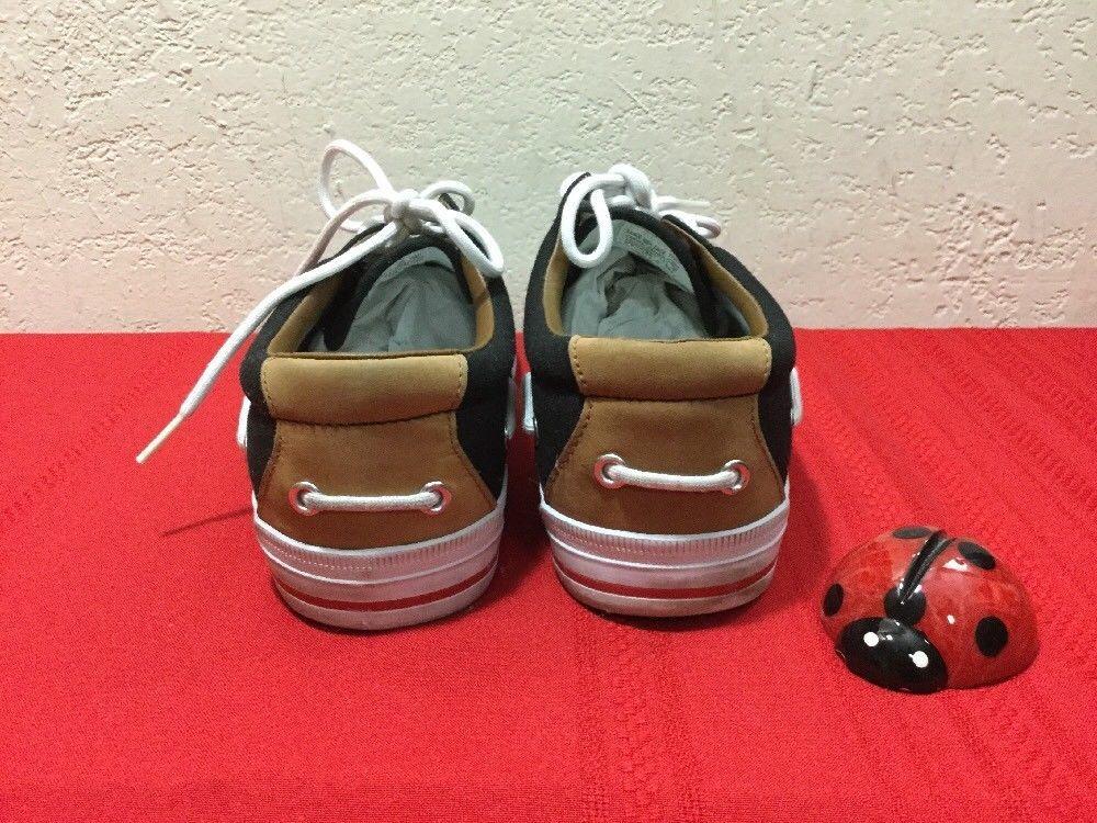 Polo Ralph Lauren Vance Side Lace Sneakers Canvas Leather Black 10.5 D Men's