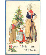 A Merry Christmas To You All Vintage Tucks Post Card - $5.00