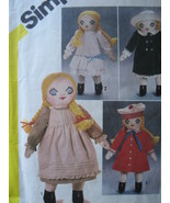 Simplicity 5784 Vintage Craft Pattern Melissa Victorian Rag Doll - $14.95